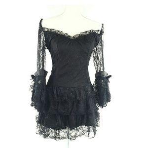 Sz M Costume Quality Lace Mini Dress